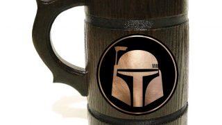7. Boba Fett Wooden Beer Mug
