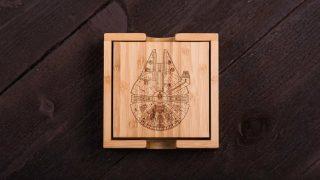 6. Bamboo Millenium Falcon Coasters