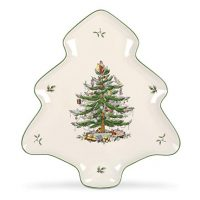 Spode Christmas Tree-Shaped Platter