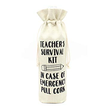 Teacher's Survival Kit Wine bag