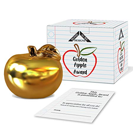 Ceramic Gold Apple Teacher Appreciation Gift
