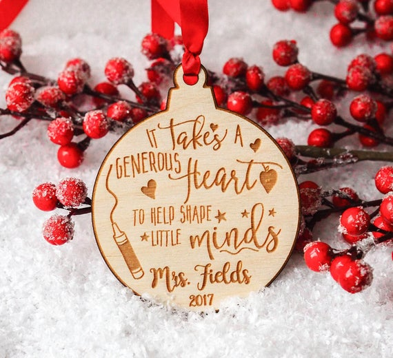 Wooden Ornament for Teachers
