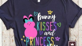 Bunny Kisses and Princess Wishes Easter Disney Shirt
